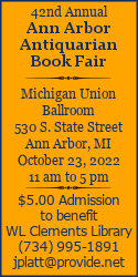 40th Annual Ann Arbor Antiquarian Book Fair
