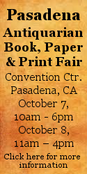 Pasadena Antiquarian Book, Paper & Print Fair