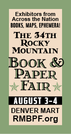 The 34th Rocky Mountain Boo9k & Paper Fair